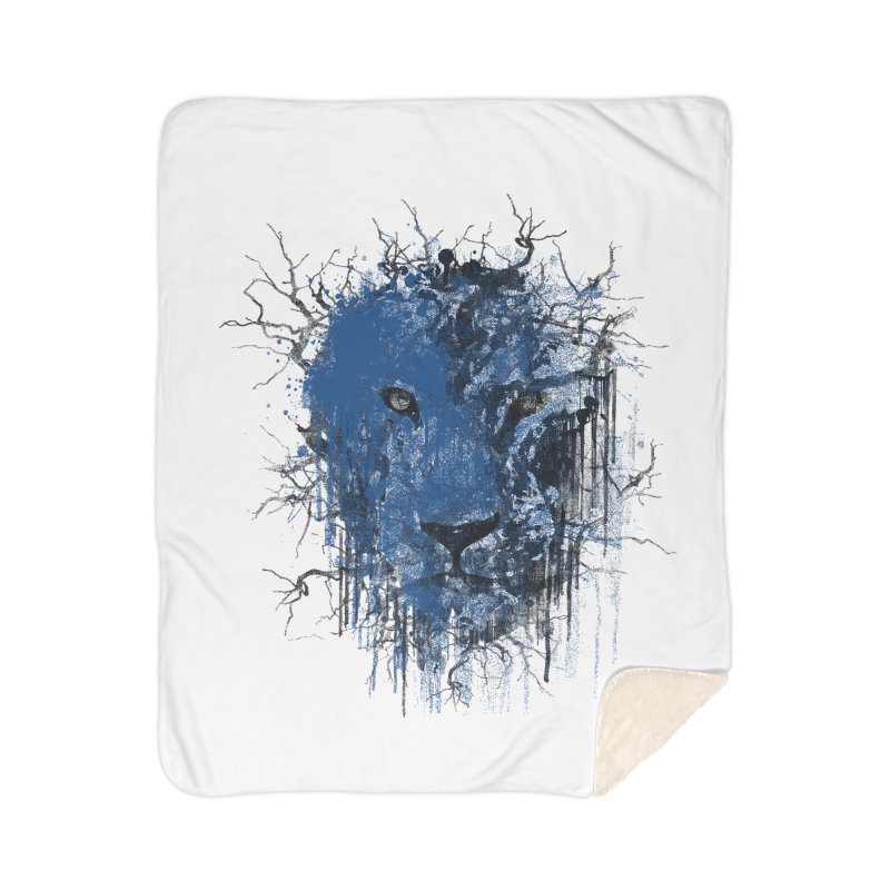 Fusion Blue Home Blanket by bulo