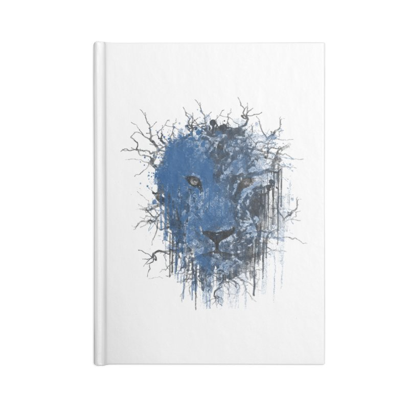 Fusion Blue Accessories Lined Journal Notebook by bulo