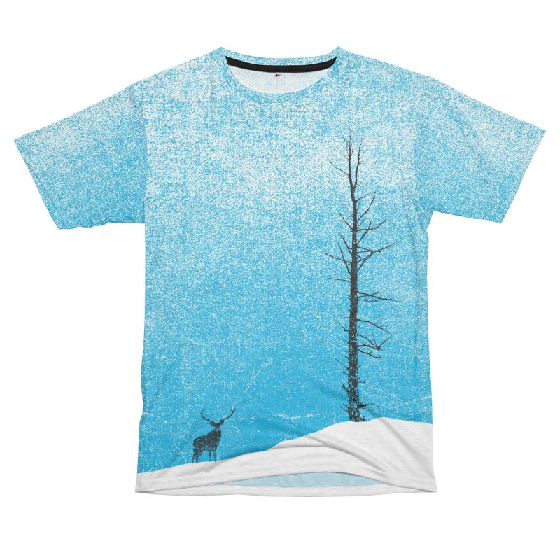Lonely Tree (rework) Men's French Terry T-Shirt Cut & Sew by bulo