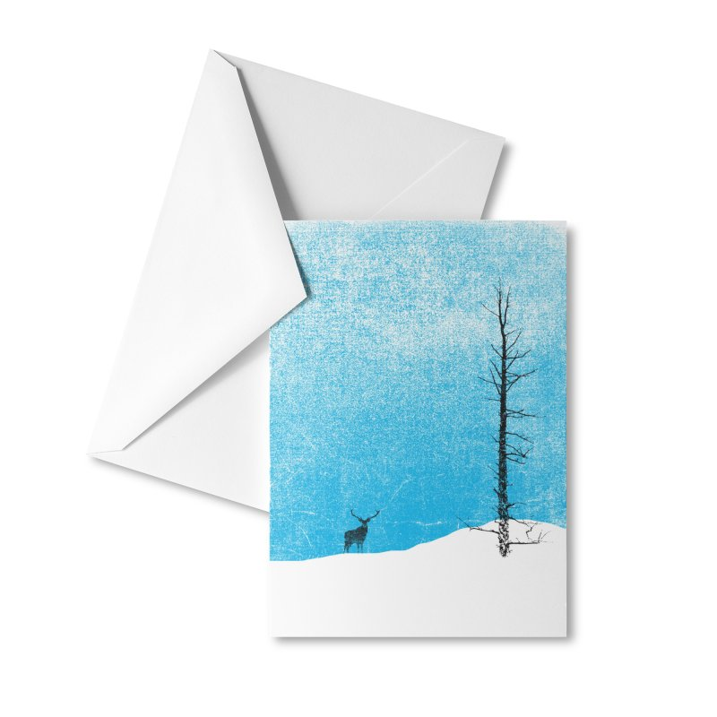 Lonely Tree (rework) Accessories Greeting Card by bulo