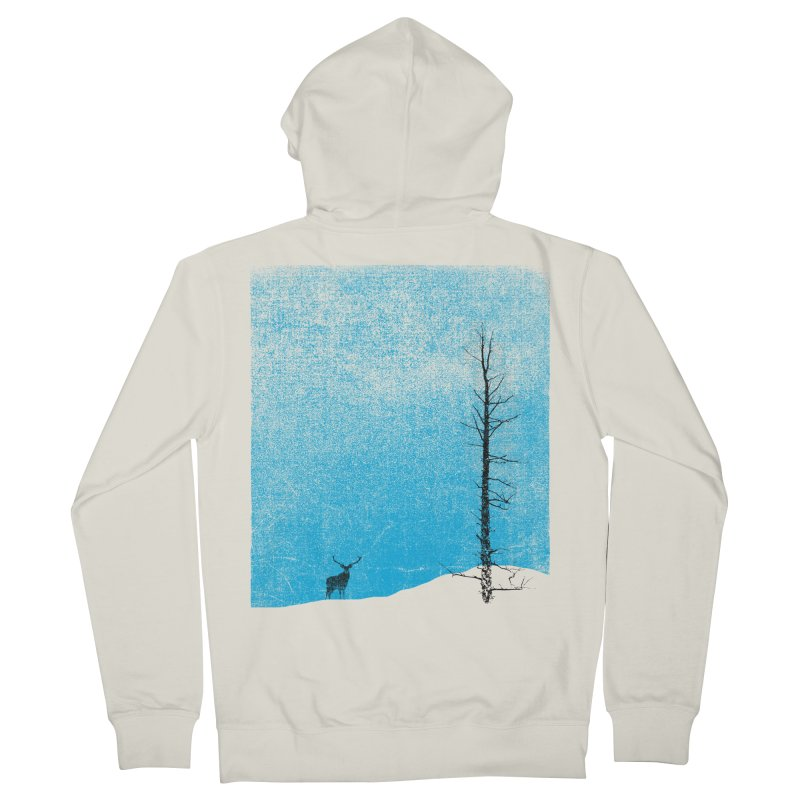 Lonely Tree (rework) Women's French Terry Zip-Up Hoody by bulo