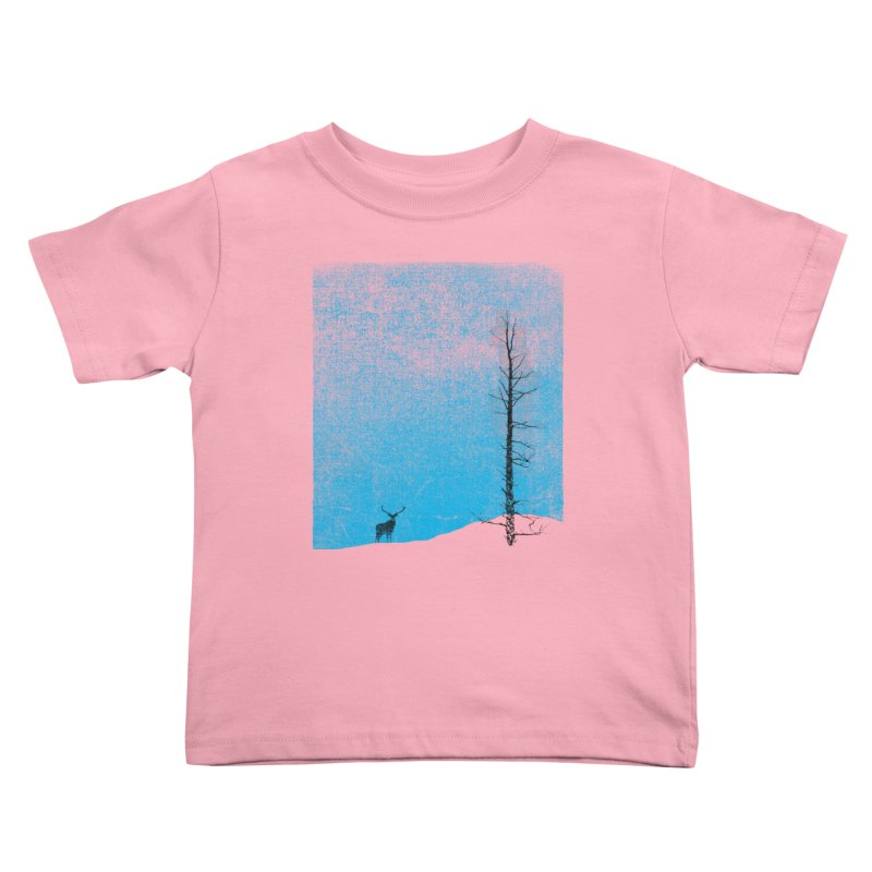 Lonely Tree (rework) Kids Toddler T-Shirt by bulo