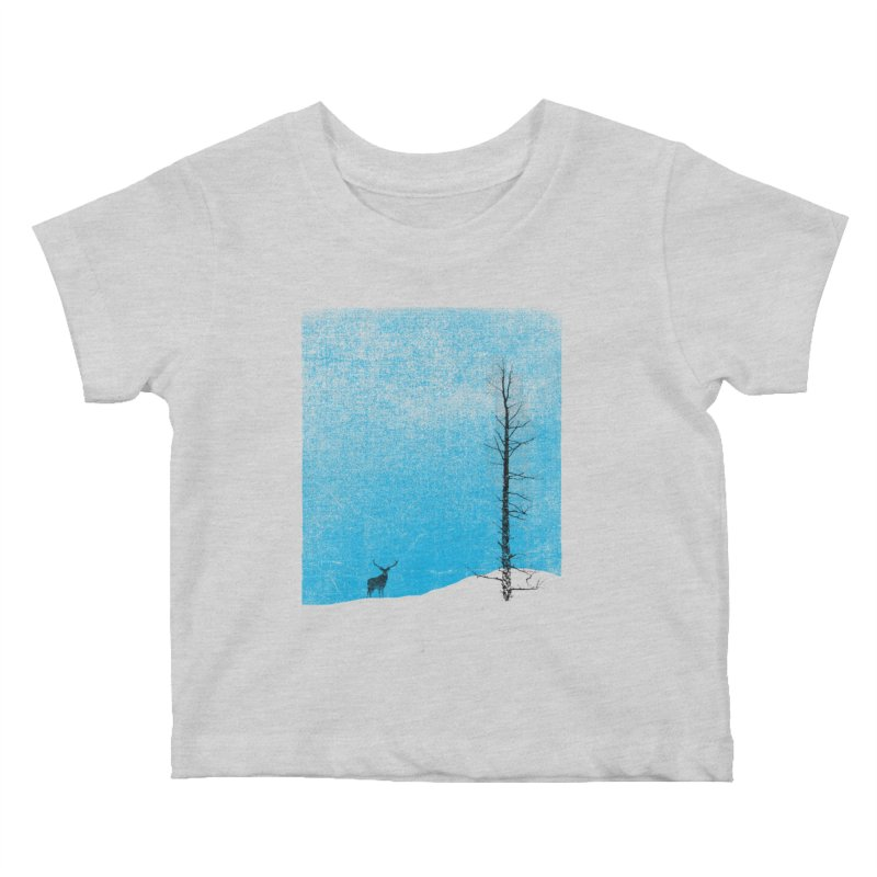 Lonely Tree (rework) Kids Baby T-Shirt by bulo