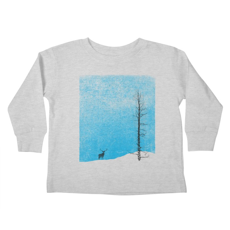 Lonely Tree (rework) Kids Toddler Longsleeve T-Shirt by bulo