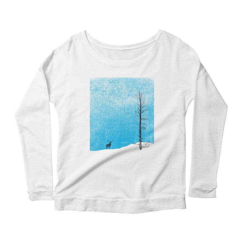 Lonely Tree (rework) Women's Scoop Neck Longsleeve T-Shirt by bulo