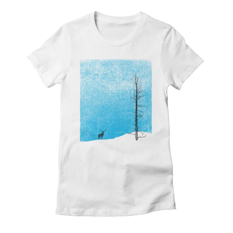 Lonely Tree (rework) Women's Fitted T-Shirt by bulo