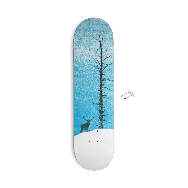 Lonely Tree (rework) Accessories With Hanging Hardware Skateboard by bulo
