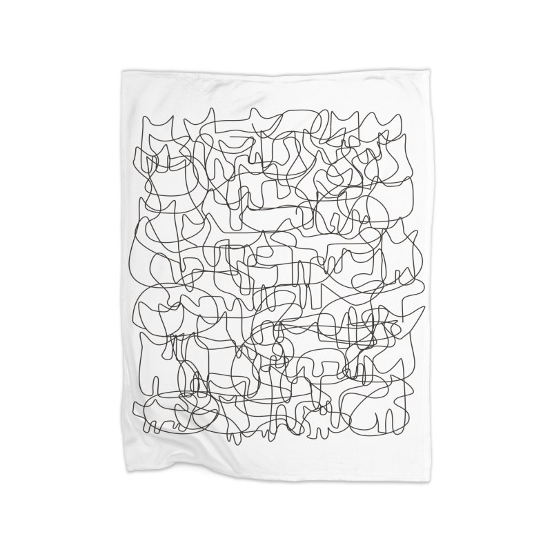 Cats Home Fleece Blanket Blanket by bulo