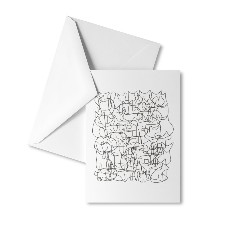 Cats. Accessories Greeting Card by bulo