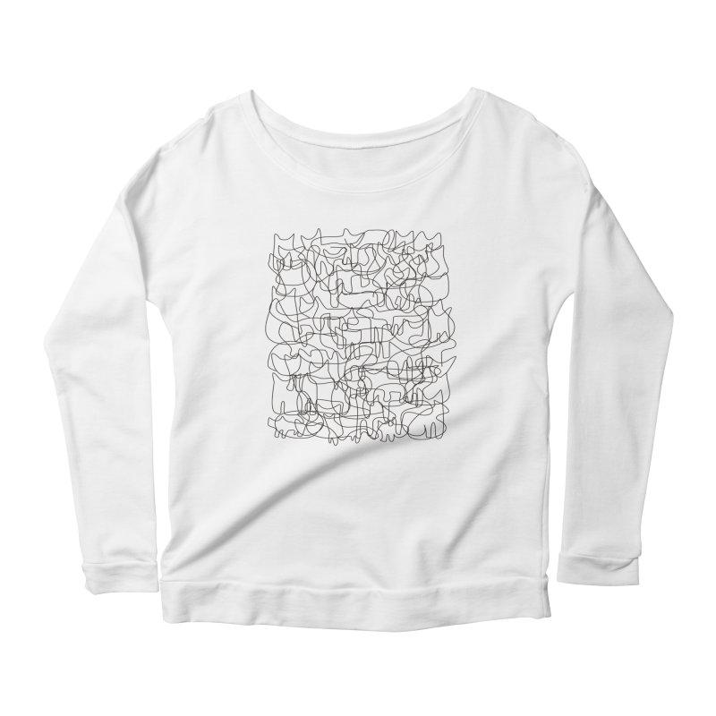 Cats Women's Scoop Neck Longsleeve T-Shirt by bulo