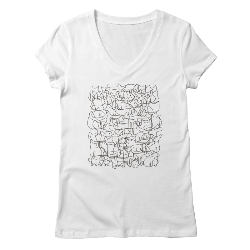 Cats Women's Regular V-Neck by bulo