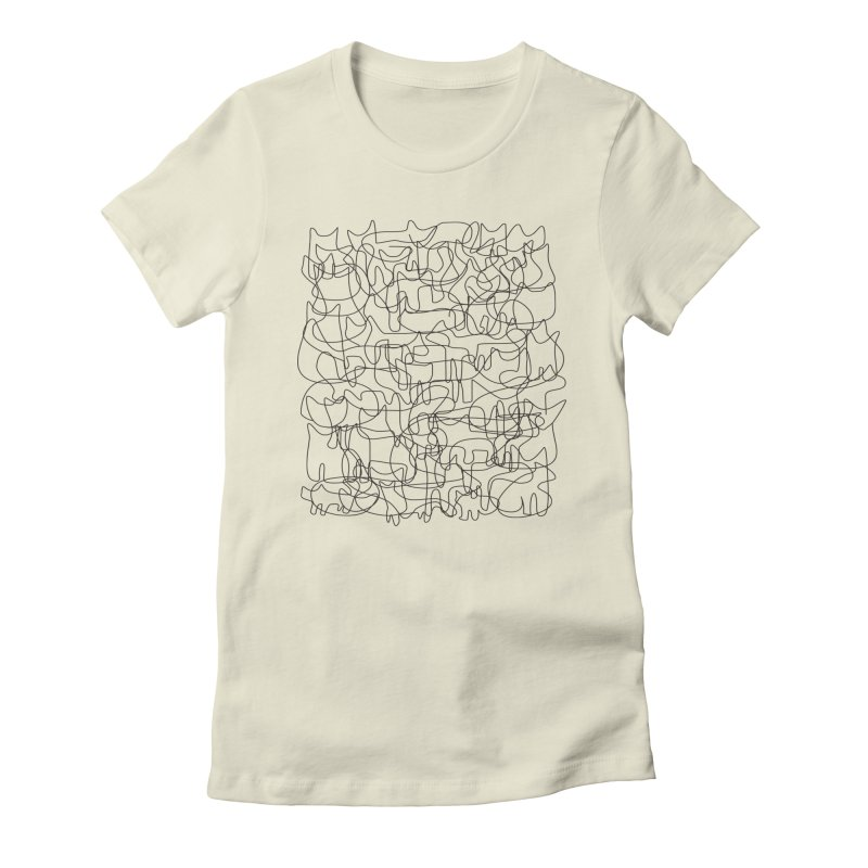 Cats Women's Fitted T-Shirt by bulo
