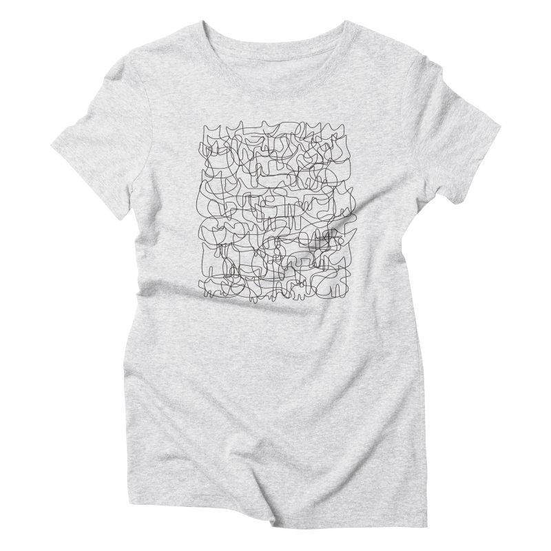 Cats Women's Triblend T-Shirt by bulo
