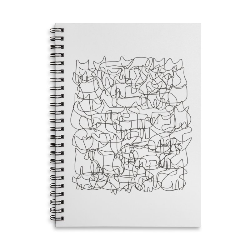 Cats Accessories Lined Spiral Notebook by bulo