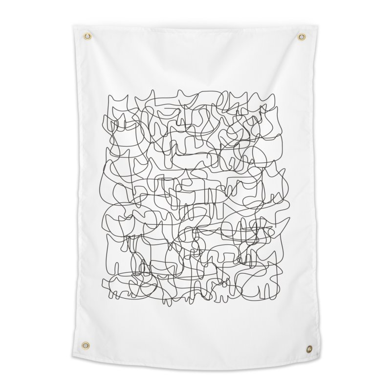 Cats Home Tapestry by bulo
