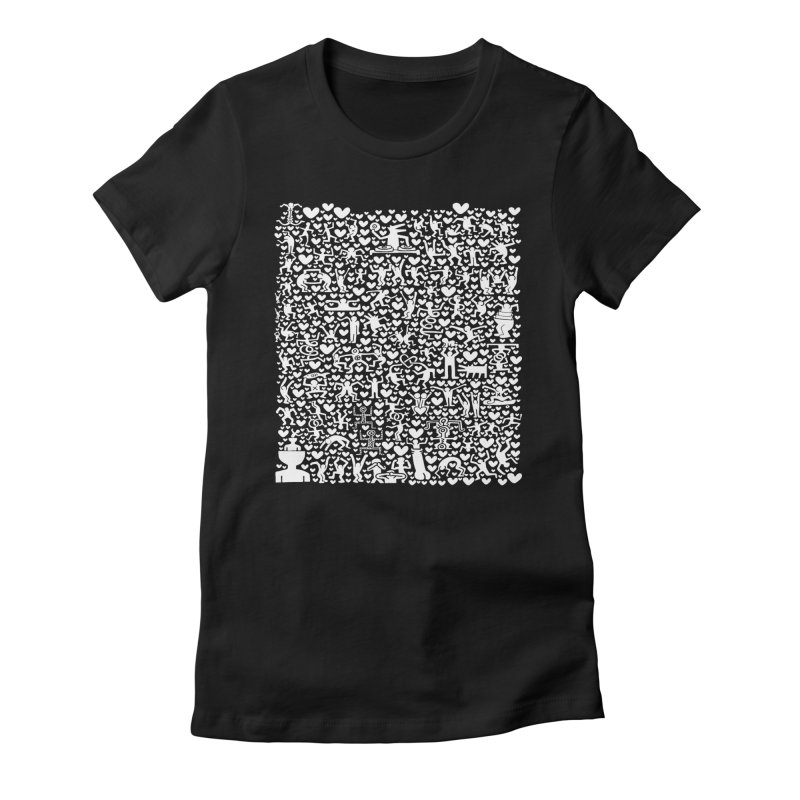 After Party Women's Fitted T-Shirt by bulo