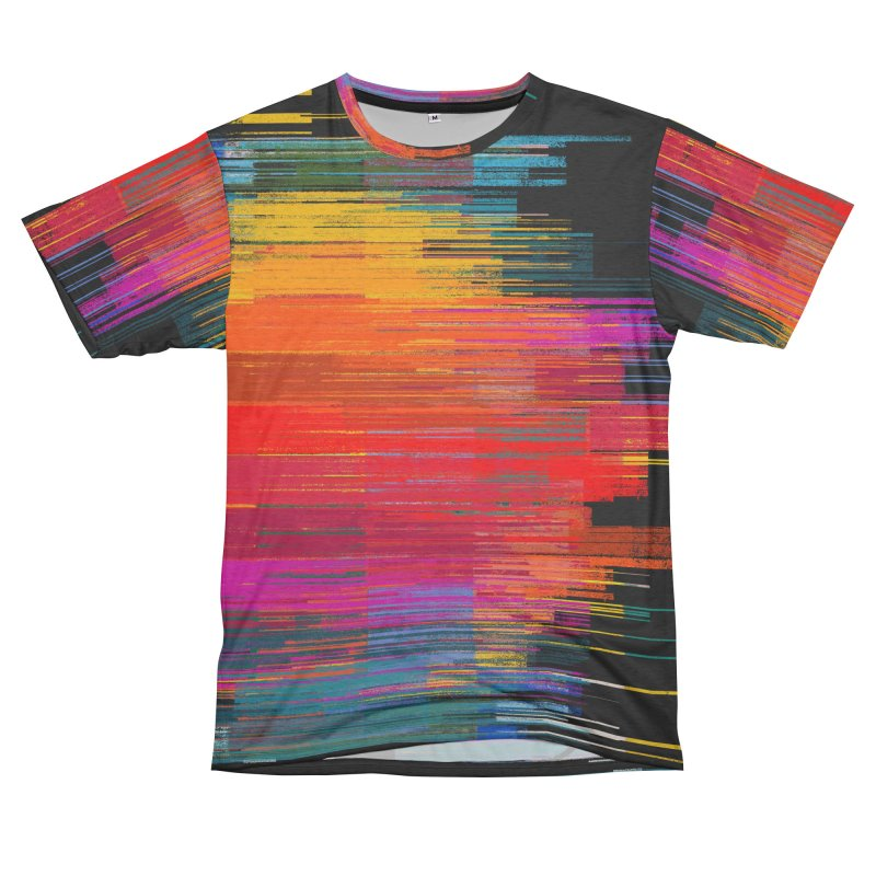 Sunset Fusion Women's Unisex French Terry T-Shirt Cut & Sew by bulo