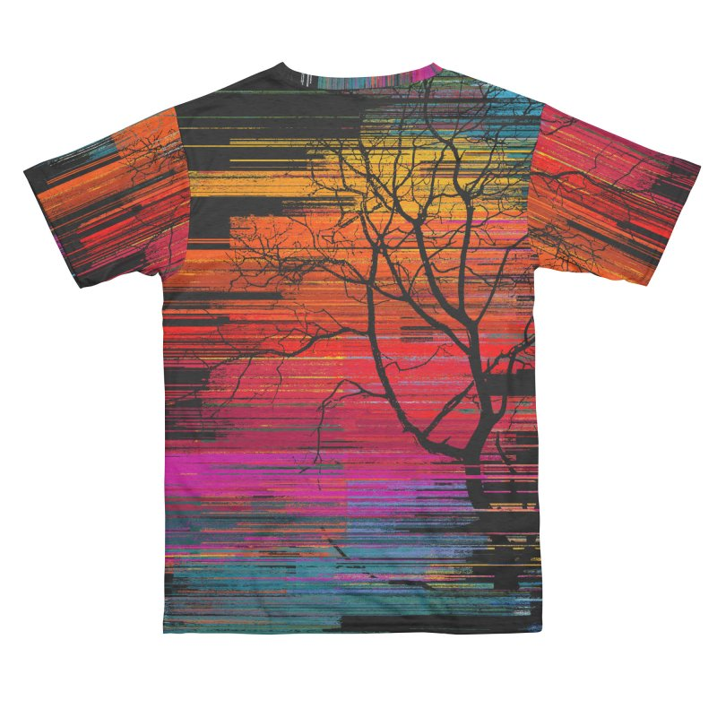Sunset Fusion (lone tree version) Men's Cut & Sew by bulo