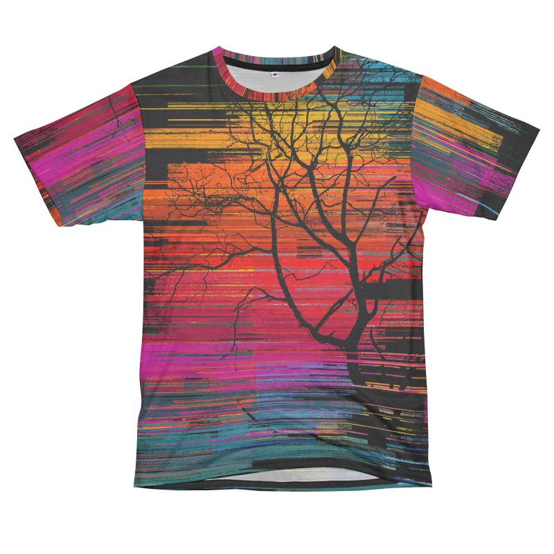 Sunset Fusion (lone tree version) Women's Unisex French Terry T-Shirt Cut & Sew by bulo
