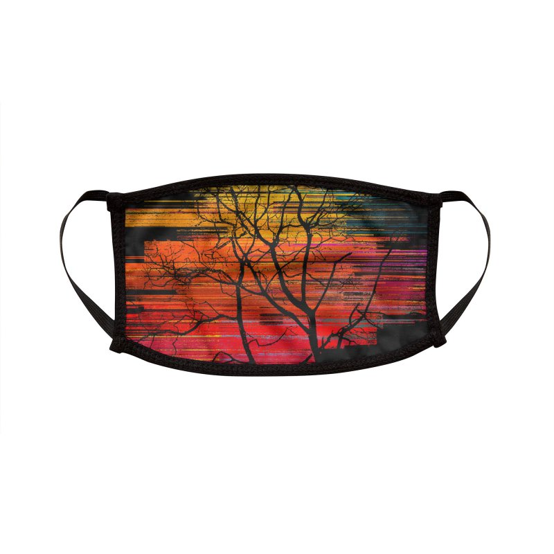 Sunset Fusion (lone tree version) Accessories Face Mask by bulo
