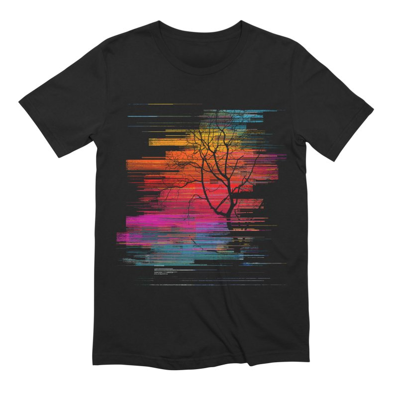 Sunset Fusion (lone tree version) Men's Extra Soft T-Shirt by bulo
