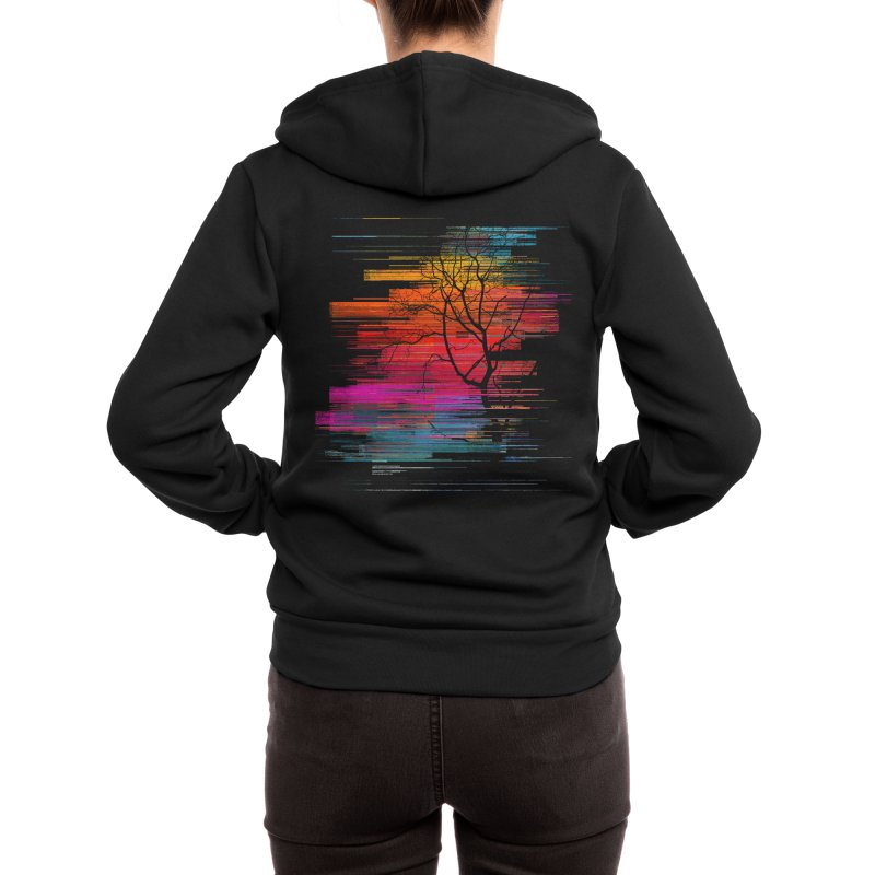 Sunset Fusion (lone tree version) Women's Zip-Up Hoody by bulo