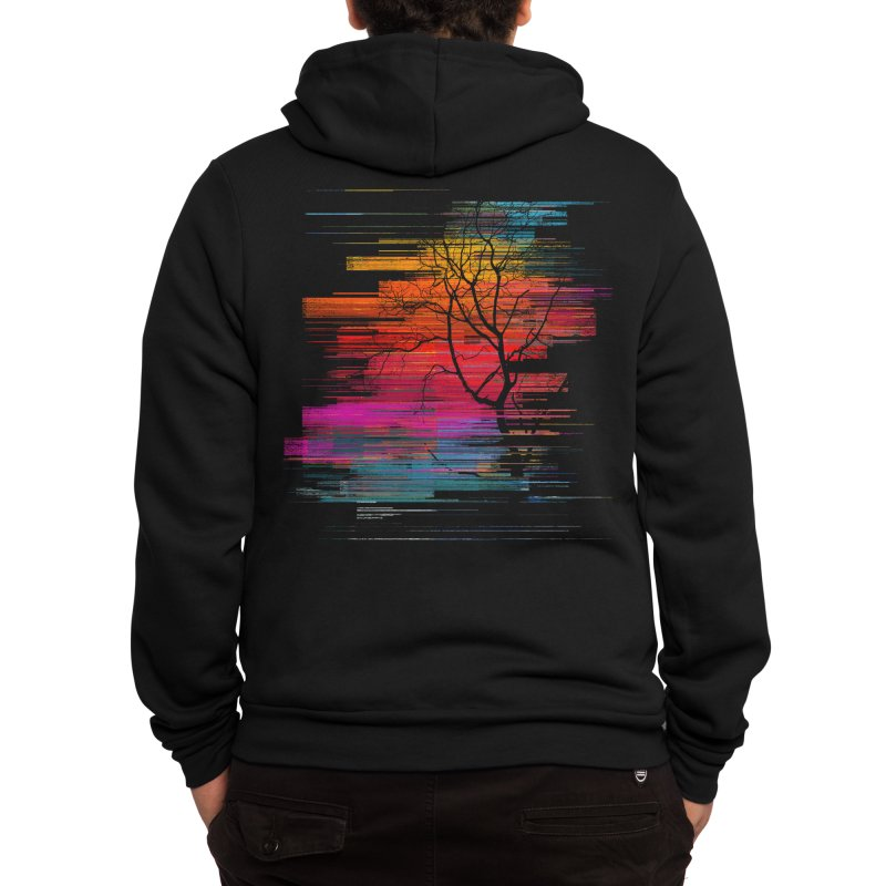 Sunset Fusion (lone tree version) Men's Zip-Up Hoody by bulo