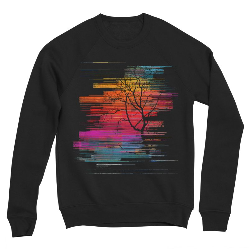 Sunset Fusion (lone tree version) Women's Sponge Fleece Sweatshirt by bulo