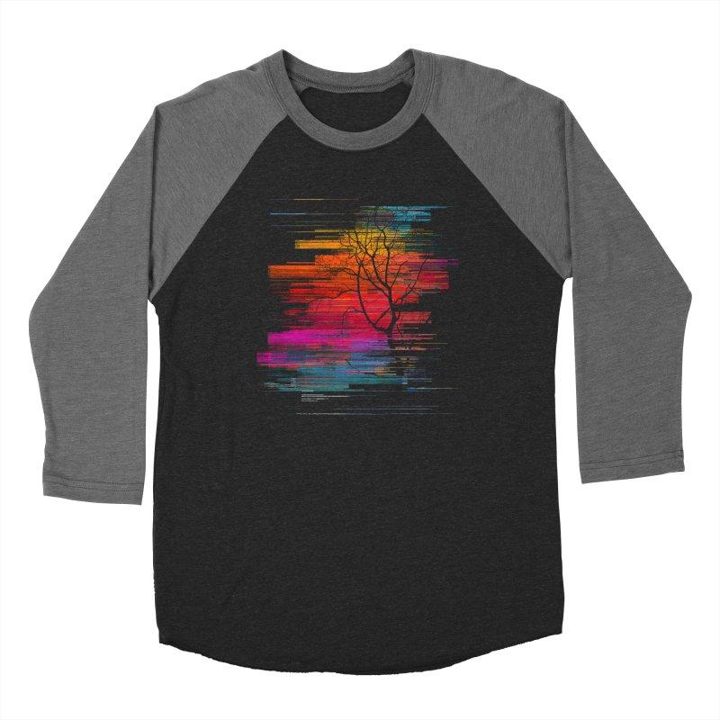 Sunset Fusion (lone tree version) Women's Baseball Triblend Longsleeve T-Shirt by bulo