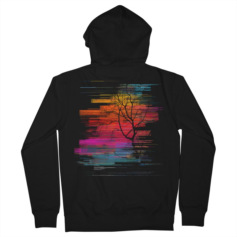 Sunset Fusion (lone tree version) Women's French Terry Zip-Up Hoody by bulo