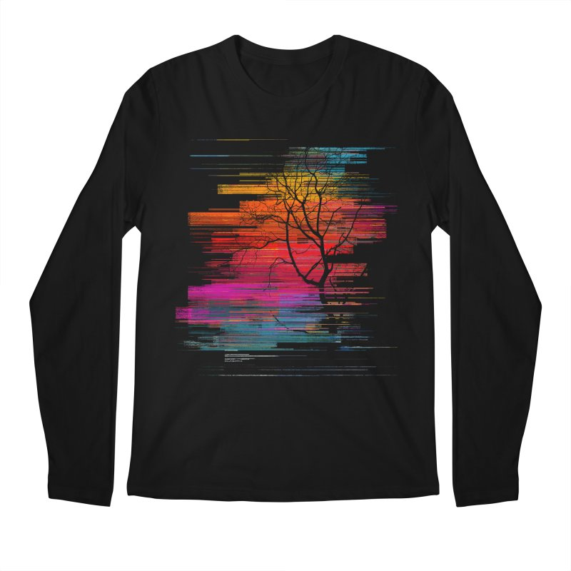 Sunset Fusion (lone tree version) Men's Regular Longsleeve T-Shirt by bulo