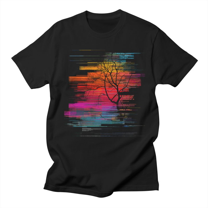 Sunset Fusion (lone tree version) Men's Regular T-Shirt by bulo