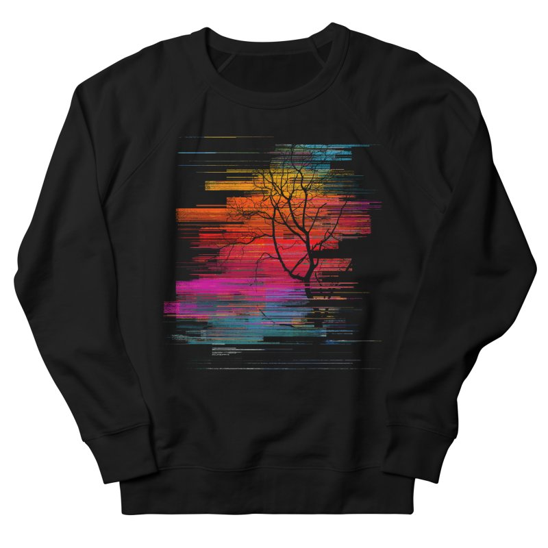 Sunset Fusion (lone tree version) Men's French Terry Sweatshirt by bulo