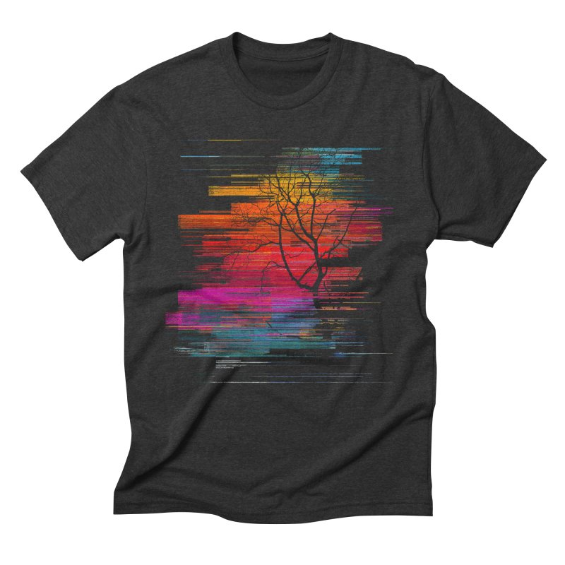 Sunset Fusion (lone tree version) Men's Triblend T-Shirt by bulo