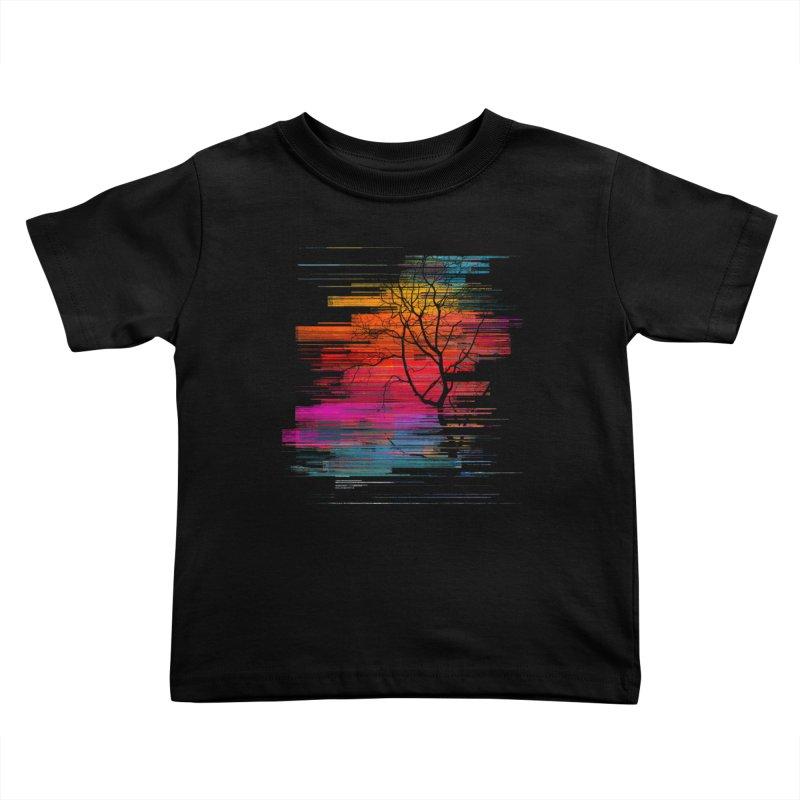 Sunset Fusion (lone tree version) Kids Toddler T-Shirt by bulo