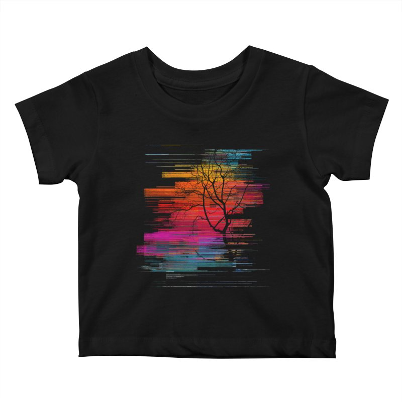 Sunset Fusion (lone tree version) Kids Baby T-Shirt by bulo