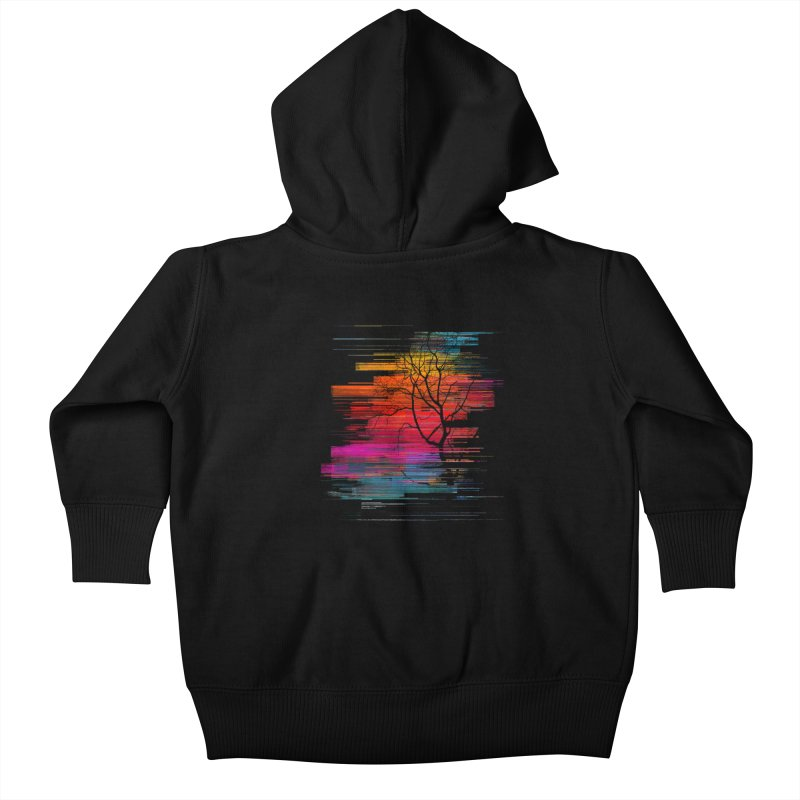 Sunset Fusion (lone tree version) Kids Baby Zip-Up Hoody by bulo