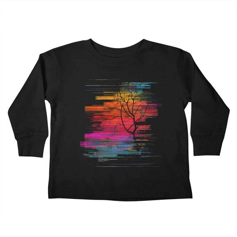 Sunset Fusion (lone tree version) Kids Toddler Longsleeve T-Shirt by bulo