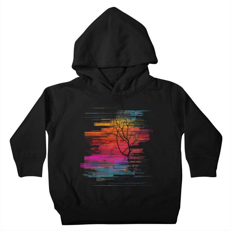 Sunset Fusion (lone tree version) Kids Toddler Pullover Hoody by bulo