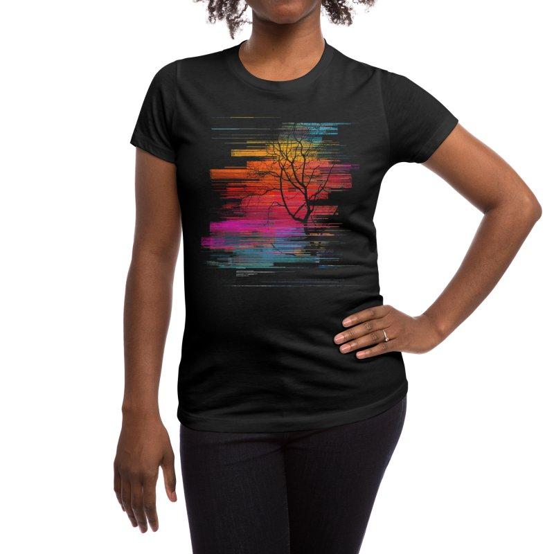 Sunset Fusion (lone tree version) Women's T-Shirt by bulo