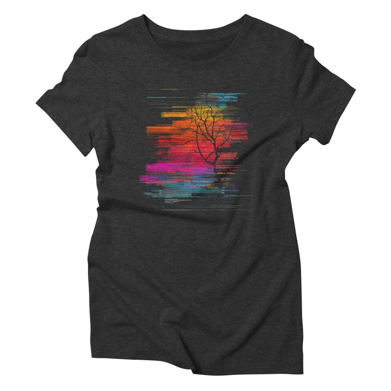 Sunset Fusion (lone tree version) Women's Triblend T-Shirt by bulo