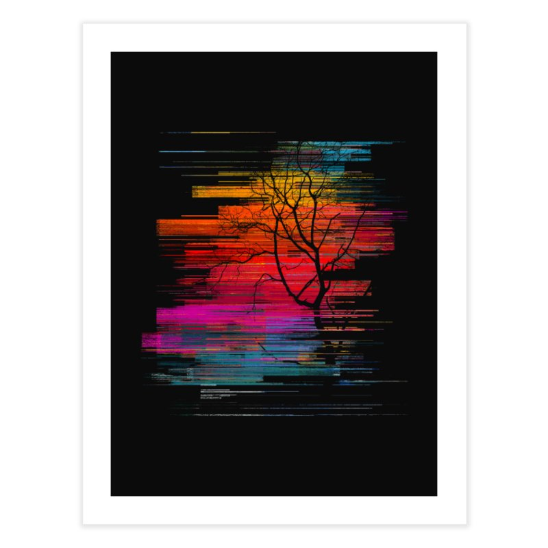 Sunset Fusion (lone tree version) Home Fine Art Print by bulo