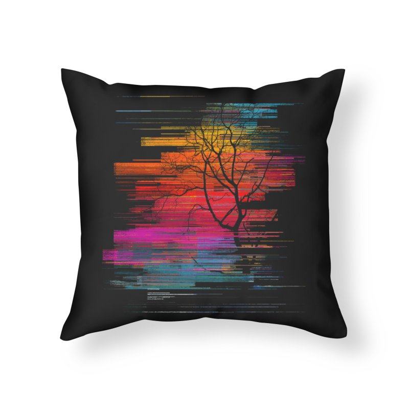 Sunset Fusion (lone tree version) Home Throw Pillow by bulo