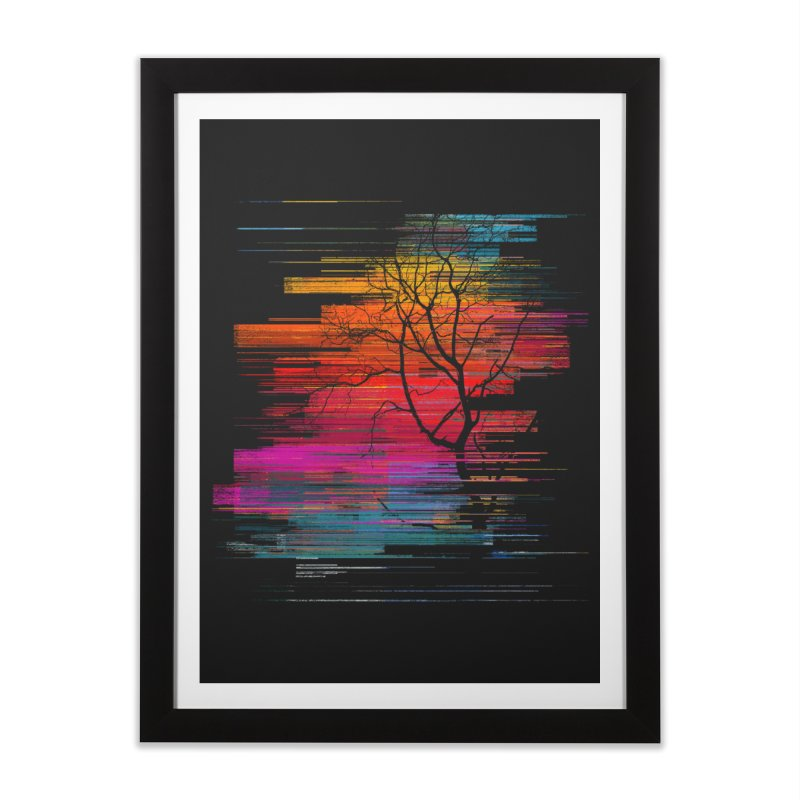 Sunset Fusion (lone tree version) Home Framed Fine Art Print by bulo