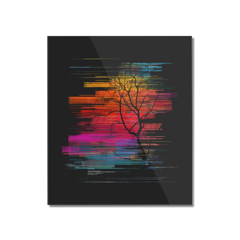 Sunset Fusion (lone tree version) Home Mounted Acrylic Print by bulo