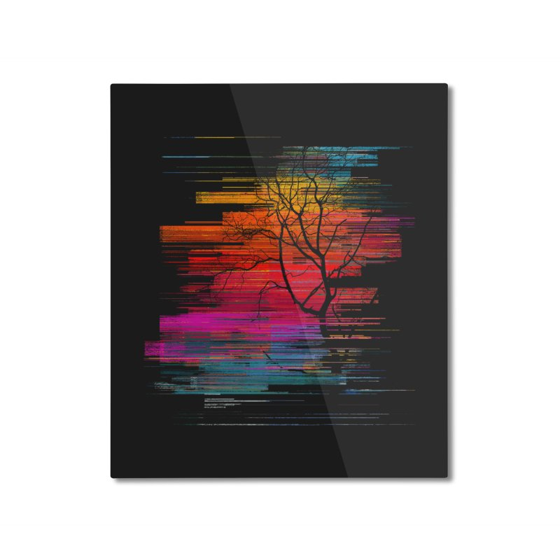 Sunset Fusion (lone tree version) Home Mounted Aluminum Print by bulo