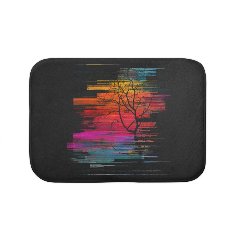 Sunset Fusion (lone tree version) Home Bath Mat by bulo