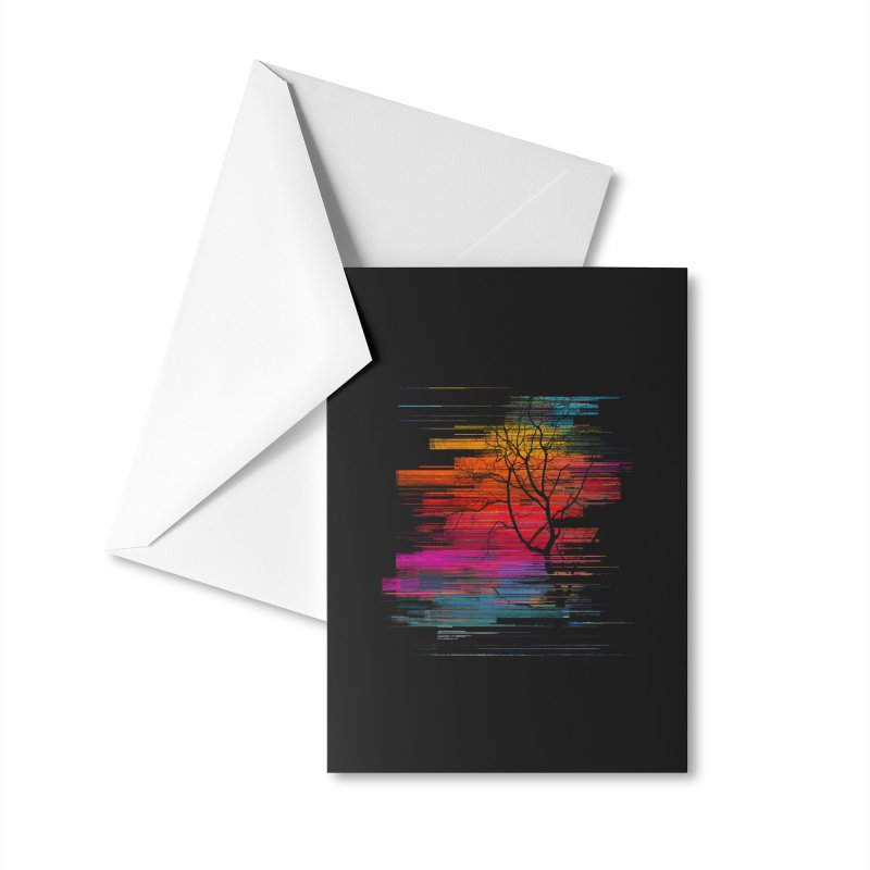 Sunset Fusion (lone tree version) Accessories Greeting Card by bulo