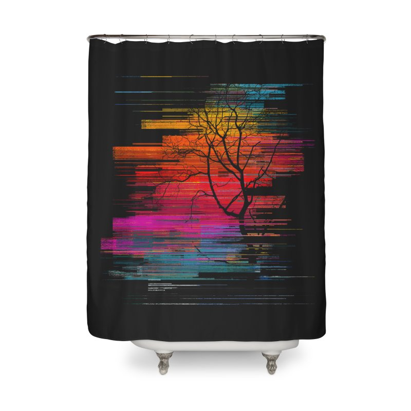Sunset Fusion (lone tree version) Home Shower Curtain by bulo