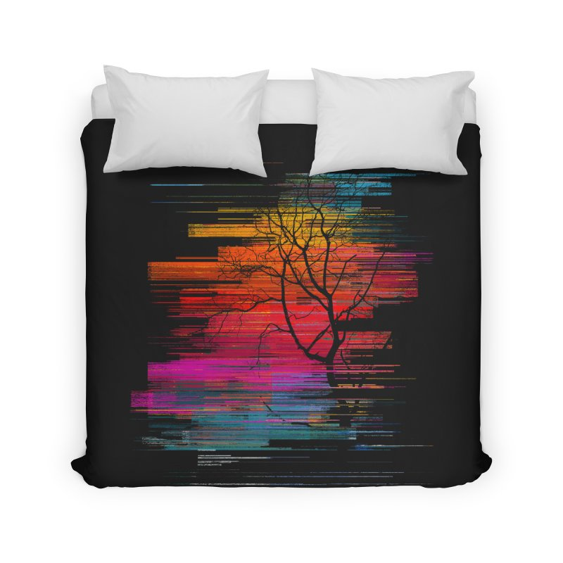 Sunset Fusion (lone tree version) Home Duvet by bulo
